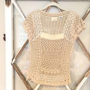 Anthropologie Crochet Top